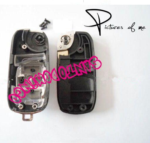 KL117 Reemplazo Remodelación de la caja Flip Folding Remote chrome coche clave Shell Fob para Toyota Camry Avalon Corolla 3 botones