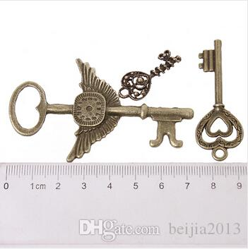 On Sale New Assorted Key Charms Alloy Plated Vintage Bronze Pendant Fit Jewelry DIY ZH-BJI004