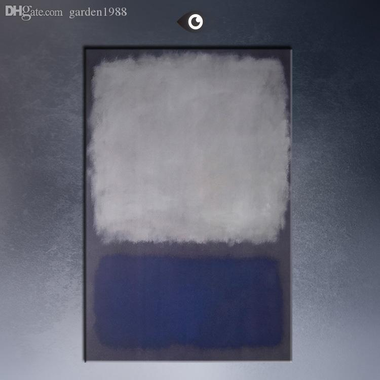 mark rothko blue u0026 gray abstract art print original huge poster for wall decor print on canvas