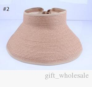 2015 fashion lady hollow bow summer hats UV sun capwoman beach visor hat large brimmed straw hat foldable