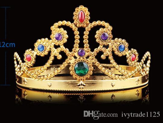 4 Arten Weihnachts Mädchen Jungen Cosplay König und die Königin Haarbänder mit Kristallen Gold-Silber-Kinder Weihnachten Cosplay Crown Haarschmuck