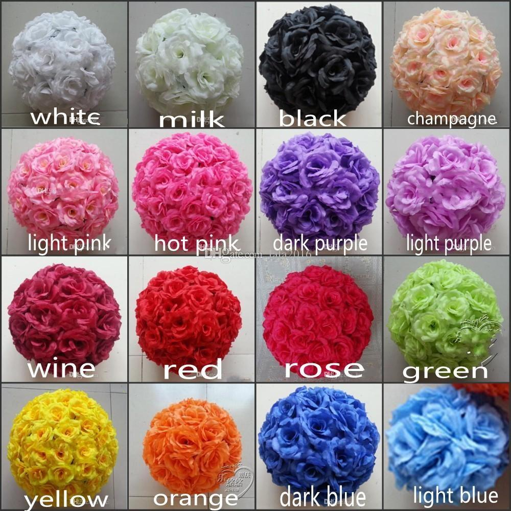 Best Quality 6 15 Cm Artificial Rose Silk Flower Kissing Balls White