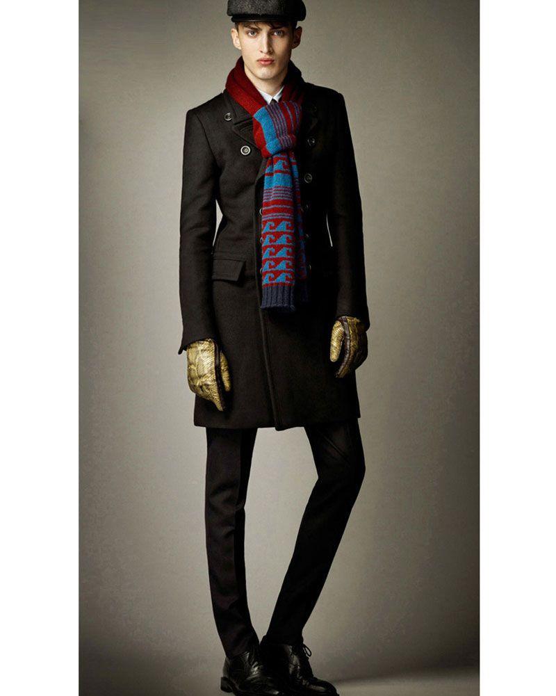 Casual Double Manteau Manteau Hommes Britannique Style Revers Col Slim Fit Long Trench-Coat Hommes Laine De Pois Manteau Manteau Homme livraison gratuite