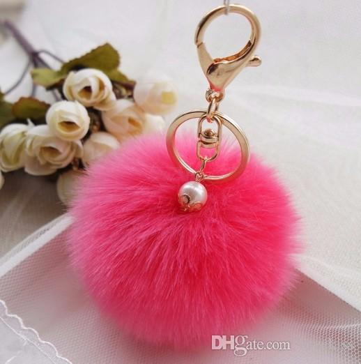 2016 fashion Key Chain Lovely hair bulb Pendant Bag&Car Pendant hang decorations Lady accessories woman key ring accessory