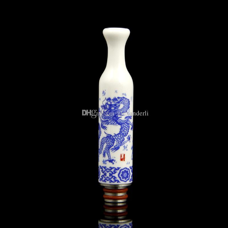 Yeni Çin Kız Tarzı Damla İpuçları 510 Seramik Geniş Çap Damla İpucu EGO E Sigara Atomizör RDA Atomizer için Ağızlıklar