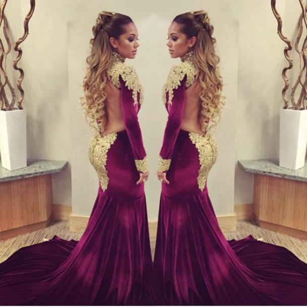 2017 Dark Navy Mermaid Evening Dresses Long Sleeves Beading Sequins Prom  Dresses Lace Appliques Celebrity Formal Dress Buy Evening Dress Buy Evening  Dresses ... 877463845