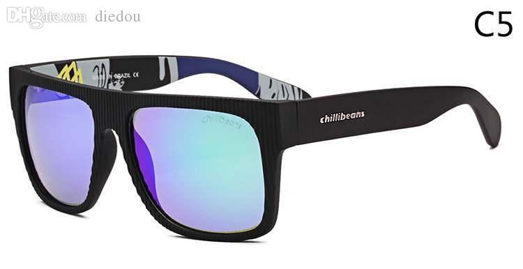 1fab3544b Compre Atacado Moda Marca Road Bike Chilli Beans Óculos De Sol Dos Homens  Quadrados Esporte Óculos Oculares Mulheres Oculos De Sol Masculino De  Prescott, ...