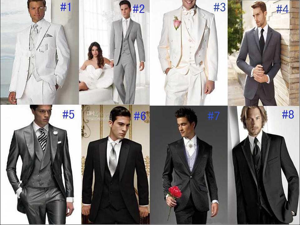 Different Unique Styles Groom Tuxedos Best Man Lapel Groomsmen Men ...