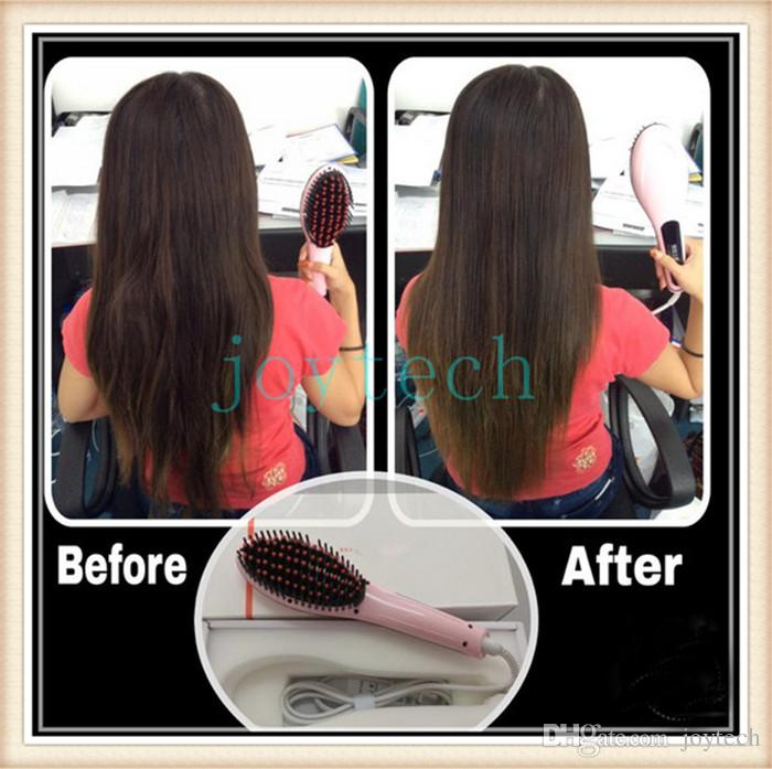 Magic hair straighteners digital temp control electric hair brush hair styling tool beautiful star straightening irons comb with LCD display