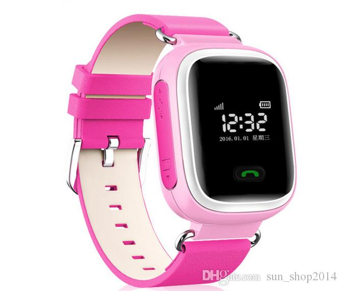 Smart Phone Watch Children Kid Wristwatch Color GSM GPRS GPS Locator Tracker Anti-Lost Smartwatch Child Guard for Android Q60