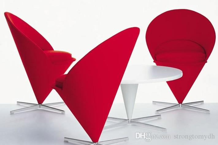 Cone Chair,home Furniture China Modern Leather Sofa With Ottoman,Cafe Chair,meeting  Room Chair, Living Room Hotel Office Fabric Red Armchair