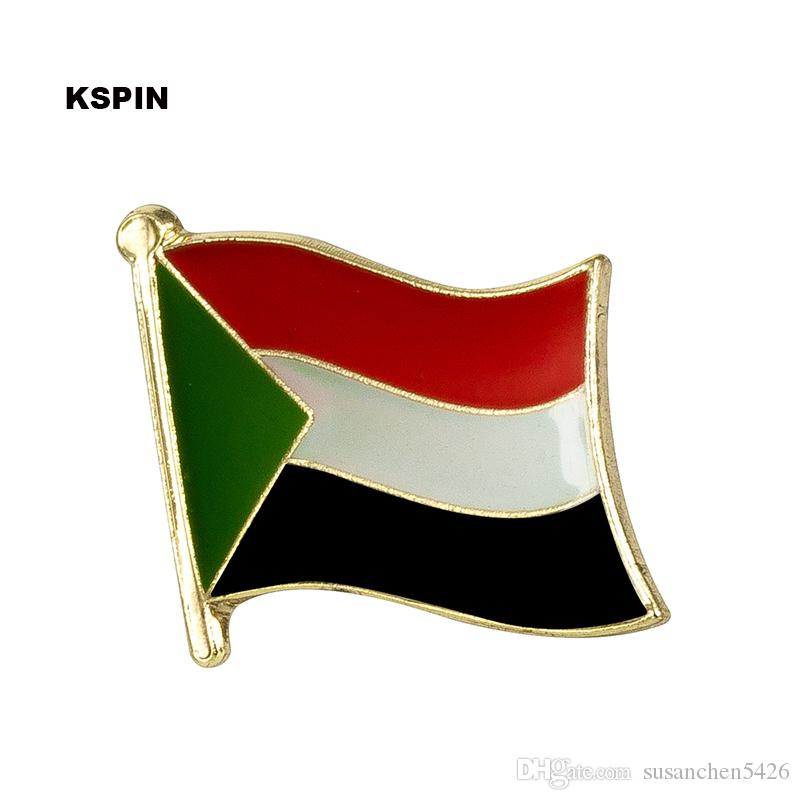 Spedizione gratuita del Sudan Metal Flag Badge Flag Pin KS-0167
