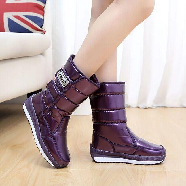 Women Boots Winter Shoes Waterproof Medium Leg Women Platform Snow Boots  Thermal Women S Winter Boots Sexy Shoes Boots Shoes From Qqqw799956998 6bb956def4