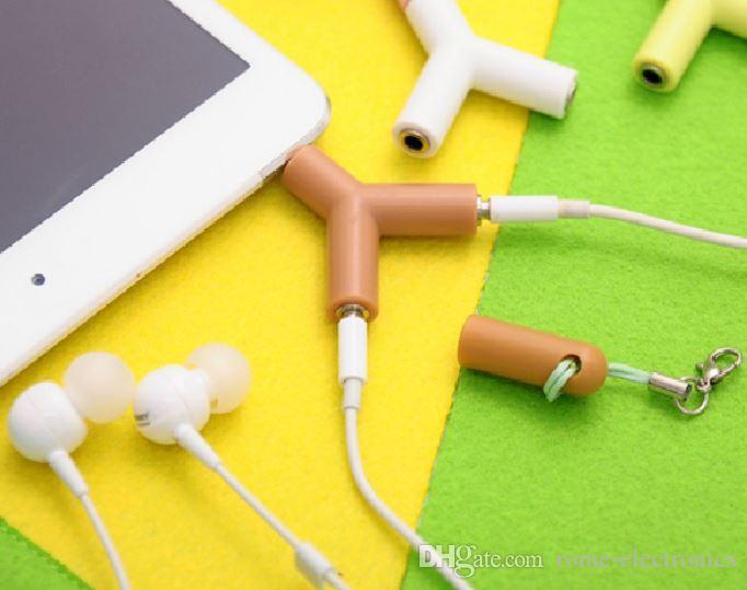 3.5mm 1 macho para 2 dual feminino fone de ouvido fones de ouvido y splitter adaptador de cabo de áudio estéreo jack para mp3 telefone ipad
