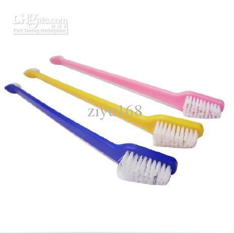 22 سنتيمتر أسنان الكلب القط الحيوانات الأليفة النظافة رعاية الأسنان فرشاة الأسنان اللون إرسال عشوائي 100 قطعة / الوحدة حيوانات منزلية