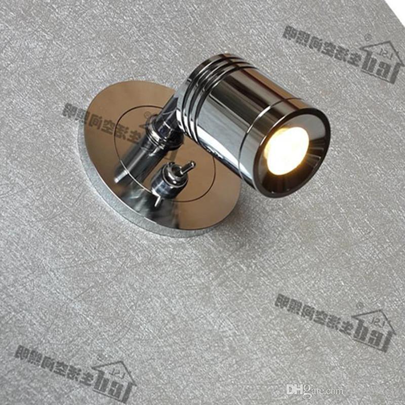 Топоч на стене утопленные светильники с включенным коммутатором лампы дискретный драйвер 3W Integral LED Chrome Finish для гостиницы Жилая моторичная яхта