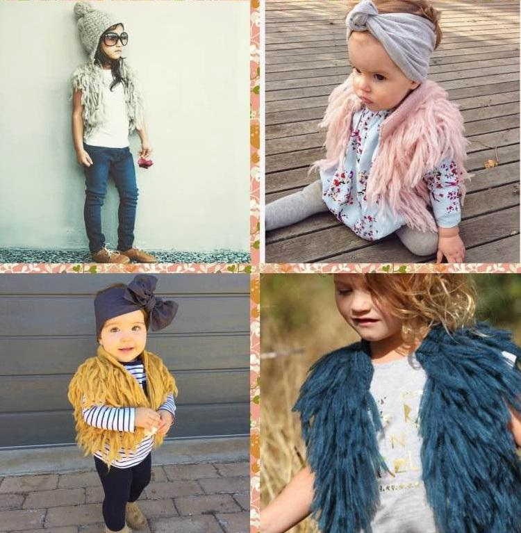 Baby Children Girls Tassels Cardigans Knitting Vests Candy Color
