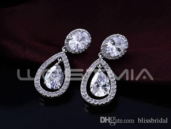Gros brillant femmes cristal boucles d'oreilles larme gouttes strass boucles d'oreilles mariée bijoux demoiselle d'honneur parti boucles d'oreilles livraison gratuite