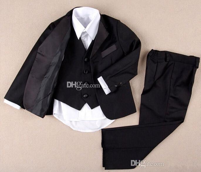 Sıcak Custom Made Custom Made Çocuk Düğün Damat Takım Çentik Yaka Çocuk Düğün Suit Boys Kıyafet