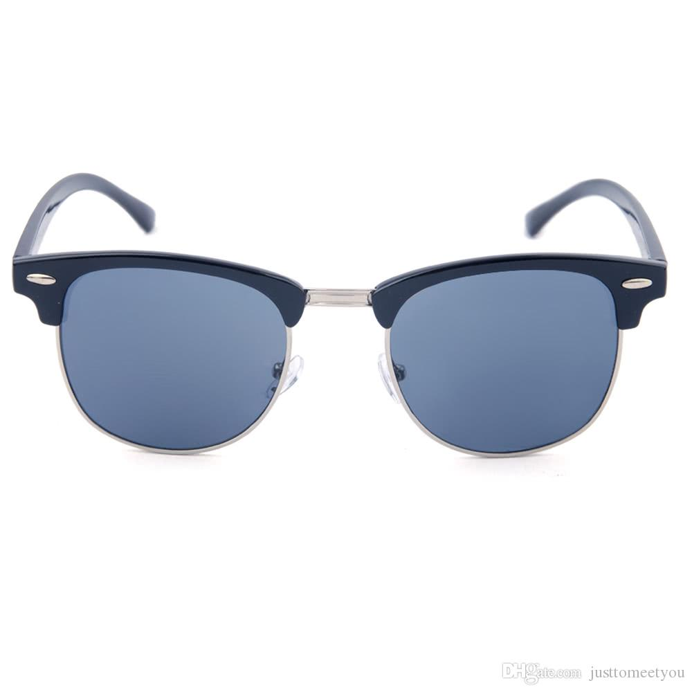 Rétro en métal couleur film Lunettes Anti-ultraviolet Lunettes de soleil + Lunettes (couleur: bleu) Xc6ylU