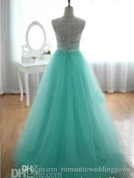 Discount New Hot Blue Wedding Dress With White Lace Tulle Skirt ...