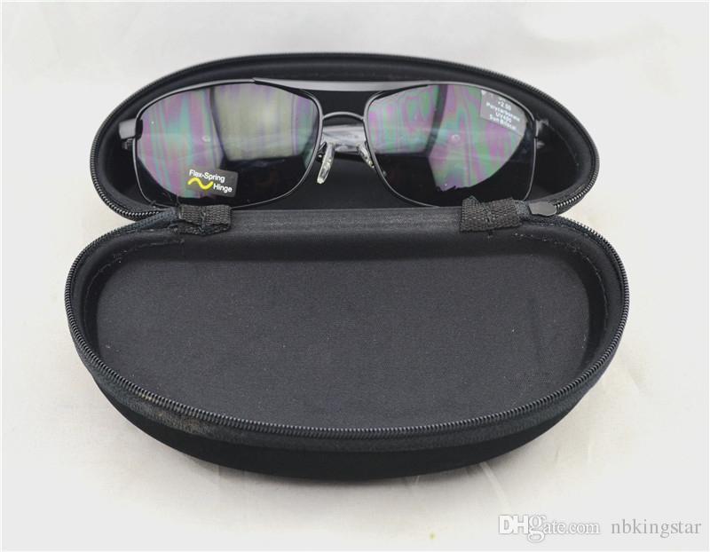 Молния моллюск жесткий чехол черные очки чехол очки сумка очки чехол переносной очки Очки коробка чехлы 50шт/много Бесплатная доставка