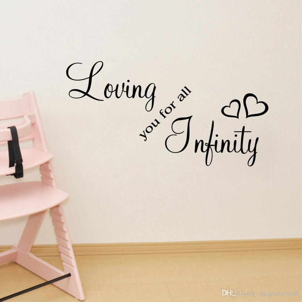 Loving You For All Infinity Wall Quote Decal Stickers Bedroom Decoration  Mural Wedding Letter Wallpaper Decor Poster Vinyl Wall Lettering Vinyl Wall  Murals ... Part 49