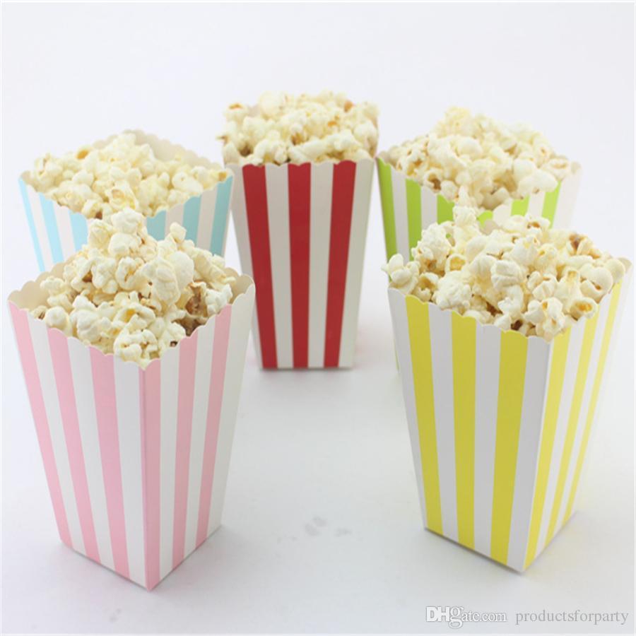 Prezzo economico all'ingrosso! Scatole di favore del popcorn degli alimenti a rapida preparazione della carta del partito di progettazione superiore di vendita, piccola scatola di carta isolata /