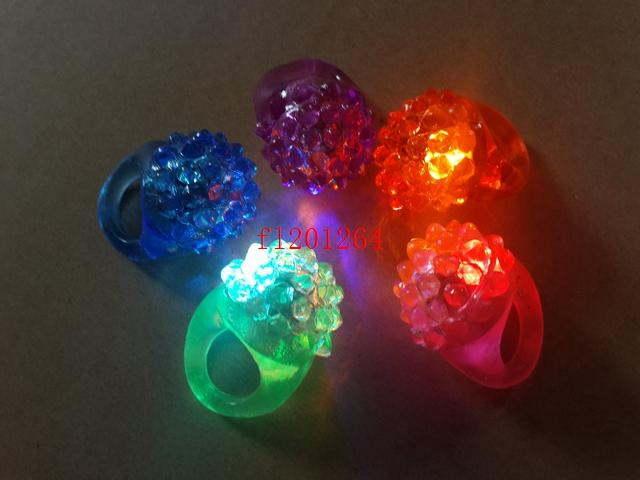DHL Fedex New Arrival Cool Led Light Up Flashing Bubble Ring Rave Party Blinking Soft Jelly Glow,