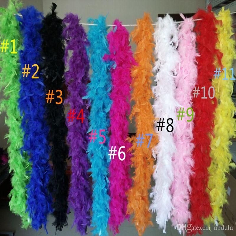 White Feather Boas Wedding Party DIY Decorations Feather Boa 2 meter Fancy Dress Hen Night Party Burlesque Scarf Gift Flower Bouquet Wrap