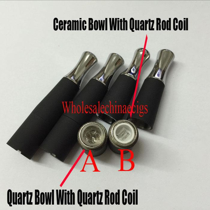 2016 Newest Dual Quartz Skillet Atomizer Vaporizer wax dry herb coil Quartz Tube Bowl Ego- D wax dry herb Tank Glass Atomizer Ecigs