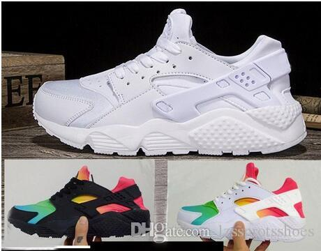 0e3cc11a9a63 2019 2017 New Air Huarache Running Shoes For Men   Women Sneakers Sport  Huaraches Ultra Shoes Trainers Size US 5.5 12 With Box From Lzssprotsshoes