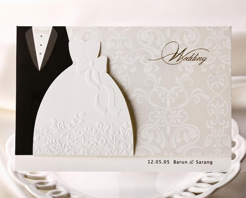 Personalized Wedding Invitations Cards Traditional Tuxedo Dress