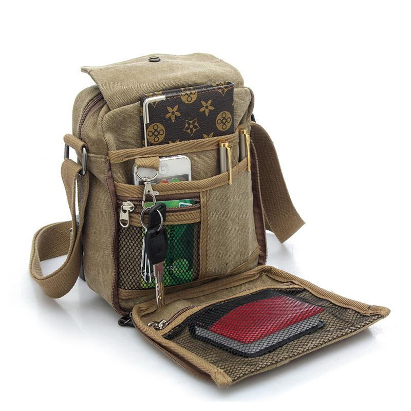 Men And Women Leisure Small Satchel Bag Canvas One Shoulder Bag ...