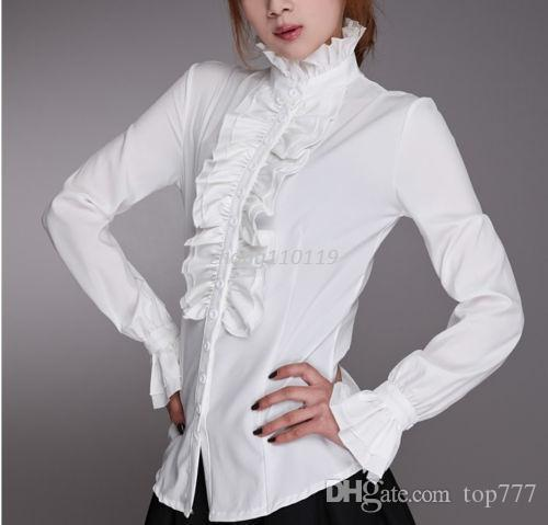 c9ade0f95ce13 ... Blouse Source · 2019 Details About Ladies High Neck Frilly Womens  Vintage Victorian