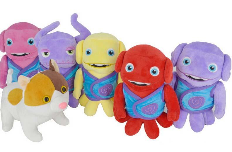 Home Movie Cartoon Plush Toys Crazy alien plush toy doll 20cm Boov oh Tip Captain Smek Lucy Kyle Toni Dog Dreamworks 6 styles