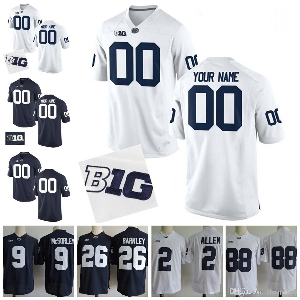 57f9b57cc 2019 Custom Penn State Nittany Lions College Football Jerseys Mens Womens  Youth Personalized Stitched Any Name Number 26 9 2 88 Jersey From  Cheap1688, ...