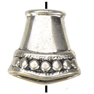 Takı bulguları diy boncuk boncuk boncuk el sanatları için vintage gümüş altın düz büyük delik metal uç kapaklar yeni toptan moda 15mm 100 adet