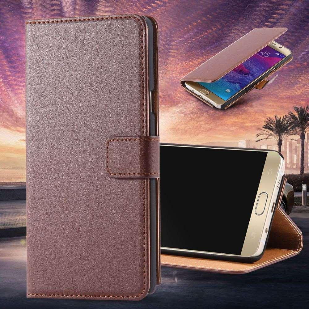 buy online 4a819 f2191 Note 5 New Flip Genuine Real Leather Case for Samsung Galaxy Note 5 Luxury  Retro Wallet Stand Phone Cover for Samsung Note 5