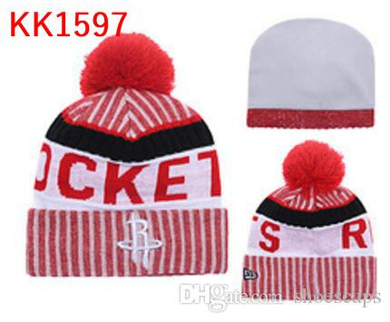 138c7b2c710 2019 New Fashion Winter HOU Basketball Hats For Men Women Knitted Beanie  Wool Hat Man Knit Bonnet Beanies Gorro Warm Cap From Shoescaps