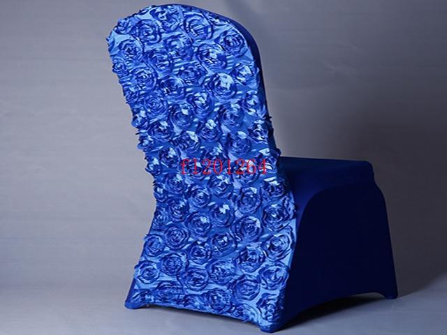 / Livraison gratuite arrivée Universal Rose satin Spandex couverture de chaise Covers satin fleur à l'arrière pour mariage Party Banquet