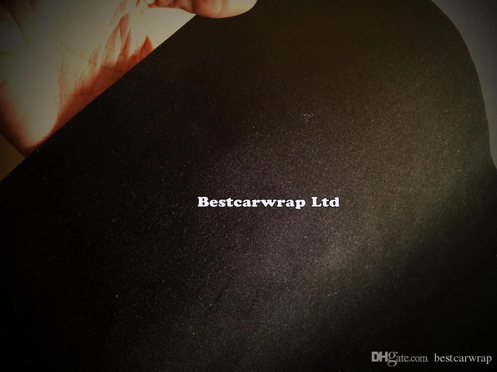 Svart Velvet Suede Vinyl Wrap Decal Sticker Film för bil Inredning Exteriör Tak täcker klistermärken med luftbubbla GRATIS storlek: 1,35x15m / Roll