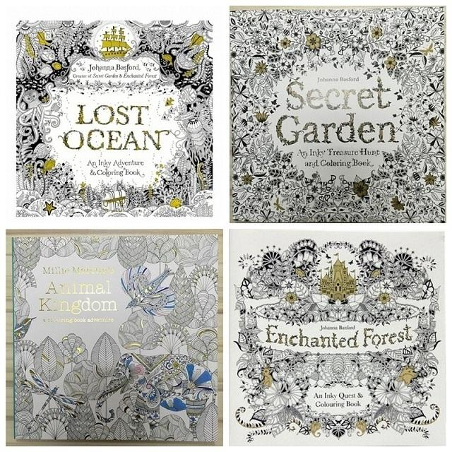 Prettybaby English Secret Garden Coloring Book For Relieve Stress Kill Time Graffiti Painting Drawing 96 Pages 4 Designs