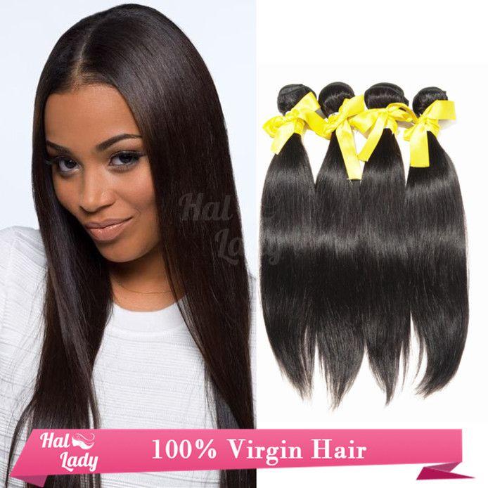 Unprocessed Brazilian Virgin Hair Weaves Weft Natural Human Hair