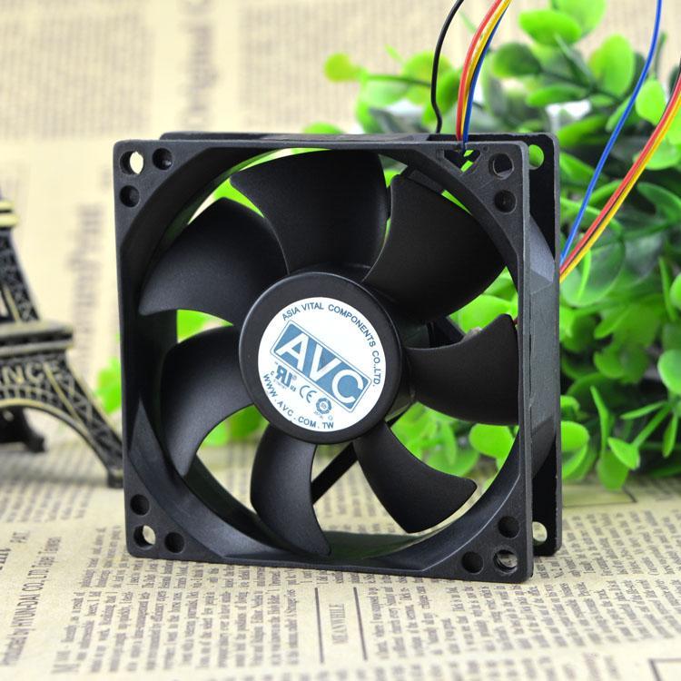AVC 8 СМ ds08025t12hp028 12 В 0,30 А 8025 4 ШИМ температура процессора корпус иглы тихий вентилятор 8 СМ 80 ММ