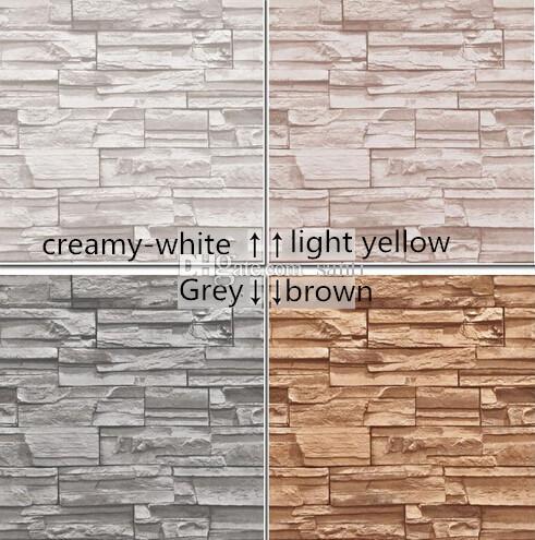 10 м / много Китайского стиль столовой 3D обои камень кирпич дизайн стена виниловых обои современные для гостиной Wallcovering