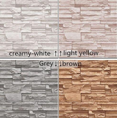 10 metros / chinês sala de jantar estilo 3D de pedra papel de parede projeto da parede de tijolo fundo de vinil papel de parede moderno para sala de estar wallcovering