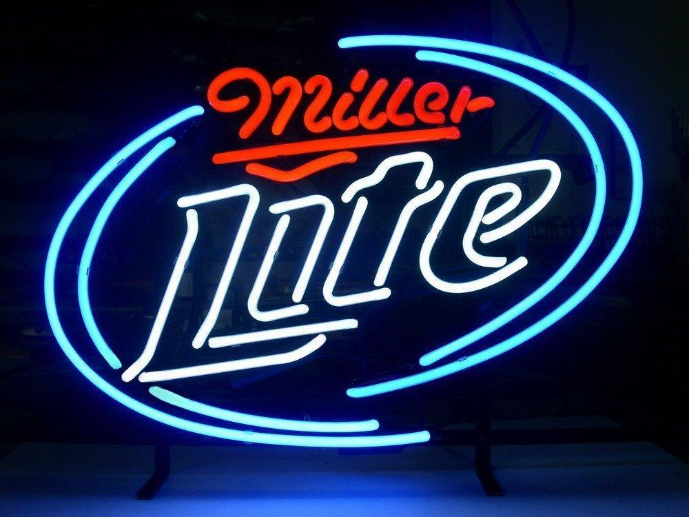 New miller lite light neon beer sign bar pub sign real glass neon new miller lite light neon beer sign bar pub sign real glass neon light beer sign 17x14 miller lite miller lite neon sign neon signs online with aloadofball Choice Image