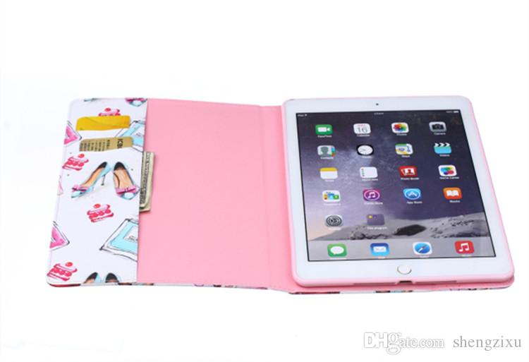 For Apple ipad Air Smart Auto-sleep Magnet Stand Style Flip Wallet Case PU Leather Shell Cover for ipad mini 4 3 2 cases
