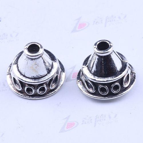 250 pçs / lote antigo de prata liga de metal precioso diamante moda jóias collet fit colar pulseira DIY 2304y